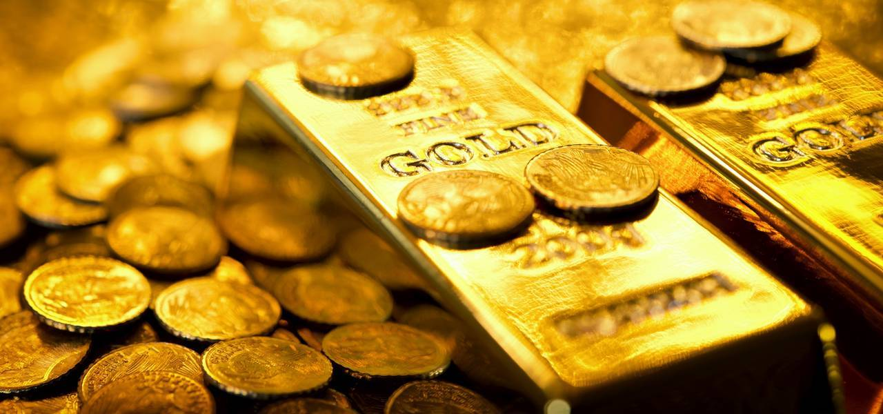 Gold dives to 6-week minimum